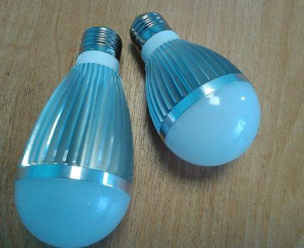 Lampe LED avec base classique