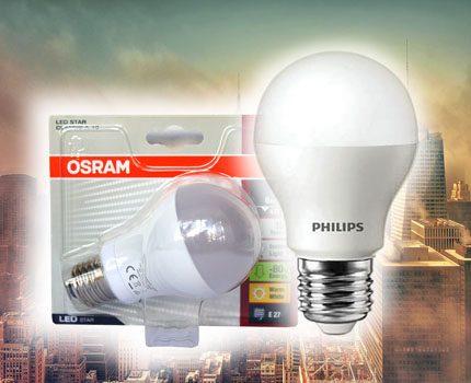 Lampes LED de Phillips