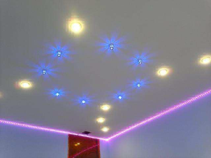 LED lamps in the interior