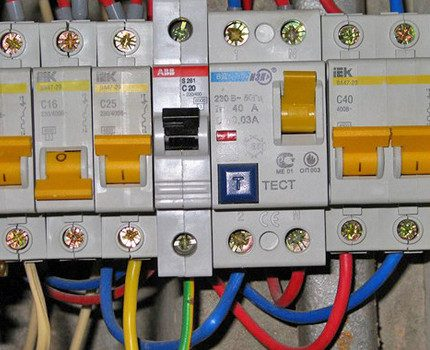 RCD in the distribution panel