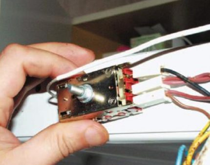 Removing the thermal relay