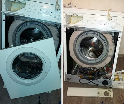 Dismantling the washing machine body before cleaning