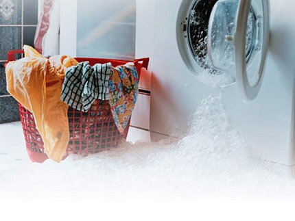 Incorrect drainage of the washing machine tank