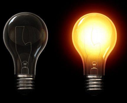 Light spectrum of an incandescent lamp