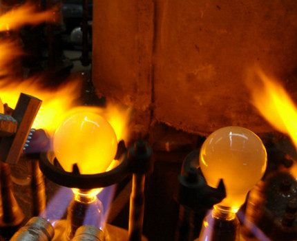 Production of incandescent lamps