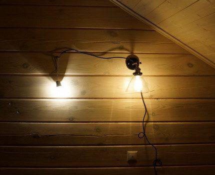 Lighting fixture on the wall