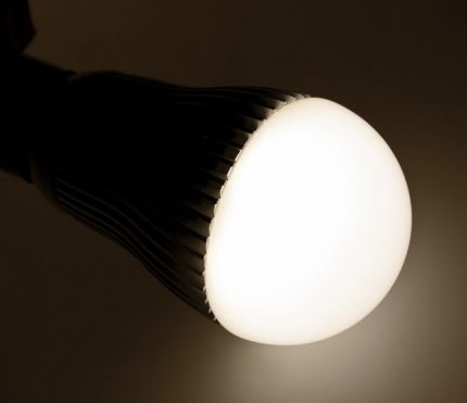 LED lamp in work