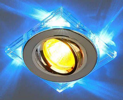 Halogen lamp in ceiling light
