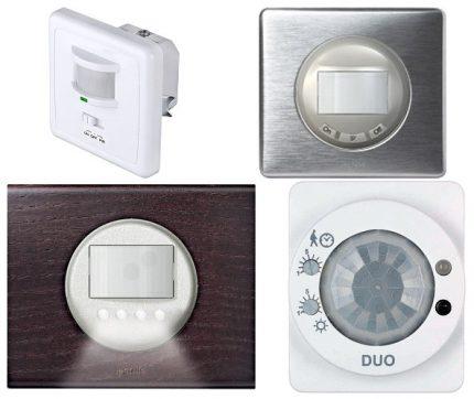 Lampu sortiments ar sensoriem