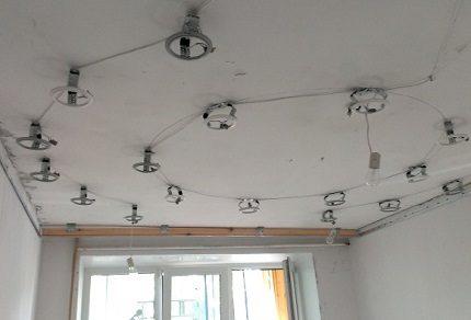 Installation d'éclairage ponctuel
