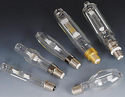 Sodium lamps with different caps