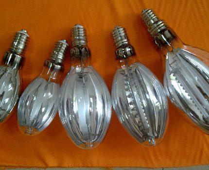 Sodium reflector lamps