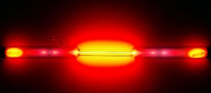 Red neon lamp