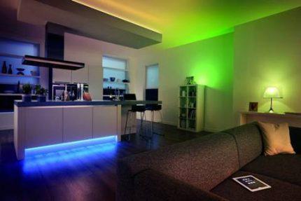 Neon interior design