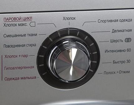 Panneau de commande de lavage à la vapeur