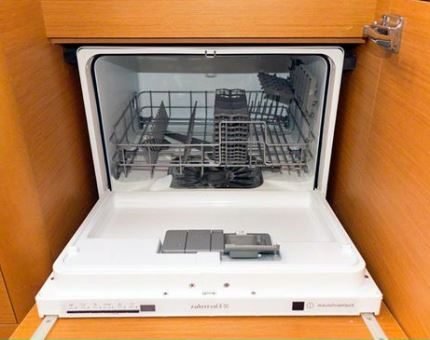 Dishwasher under the sink