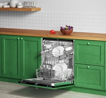 Decorating a built-in dishwasher Flavia
