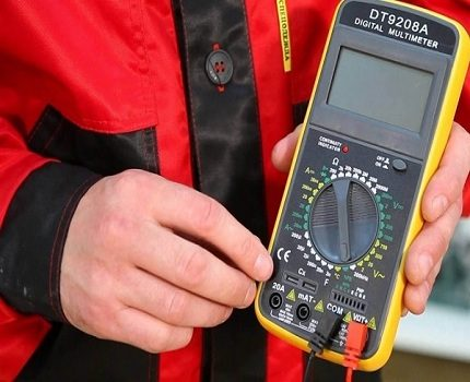 Multimeter to check