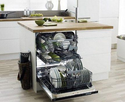 Intérieur du lave-vaisselle