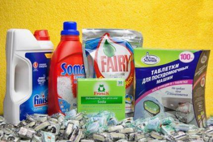 Detergents for dishwashers