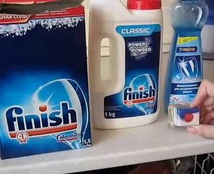 Detergents for the dishwasher
