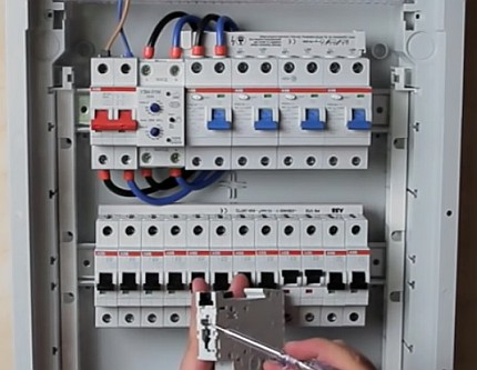 Complex of RCD and circuit breakers