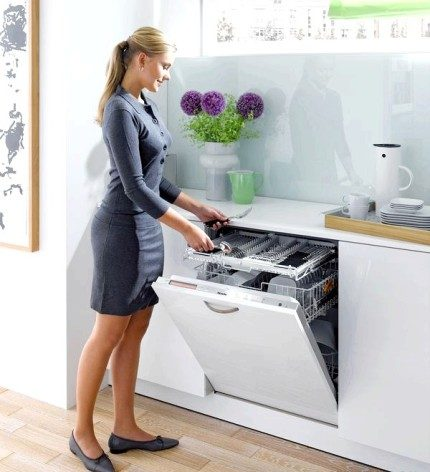 The advantage of a built-in dishwasher