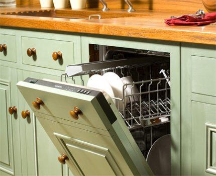 Narrow dishwasher