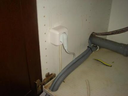 Installing a power outlet