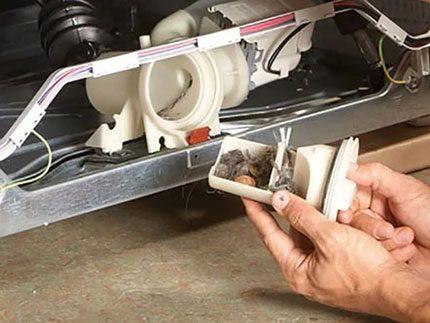 Dishwasher filter clogged