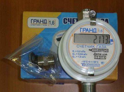 Gas meter with packaging