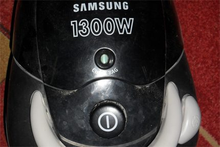 Defective Samsung Vacuum Cleaner Button