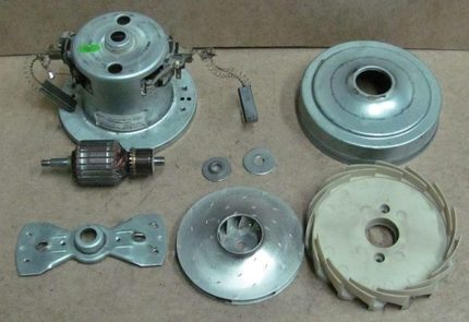 Samsung disassembled vacuum cleaner motor