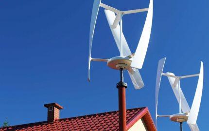 Vėjo malūnas privačiam namui