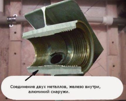 Bimetal radiator device