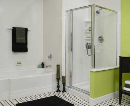 En mängd modeller av duschlådor