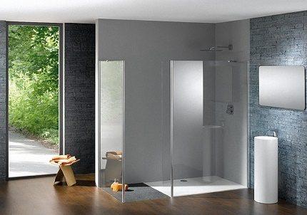 Öppen duschlåda