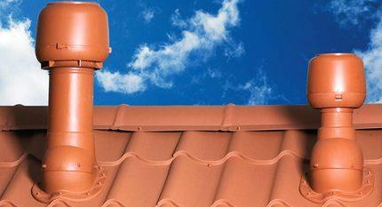 Roof fan pipes