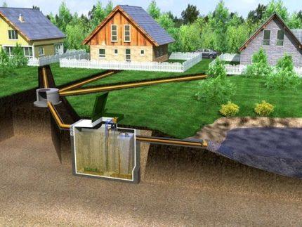 Central sewage system