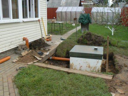 Sealed septic tank