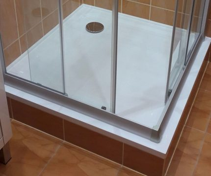 Fyrkantig dusch