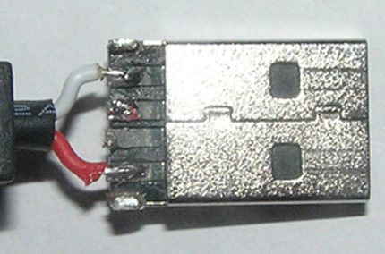 USB wiring for power