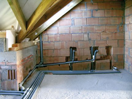 Slope sewer pipes