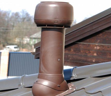Roof fan pipe