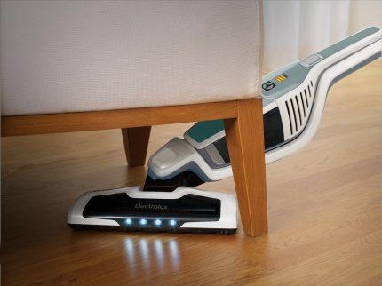Vacuuming under furniture