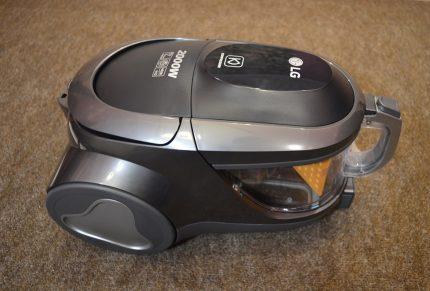 LG vacuum cleaner gray