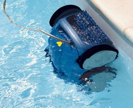 Robot vacuum cleaner for the pool