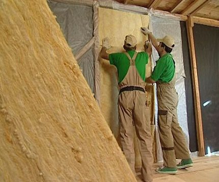 Mineral wool wall insulation