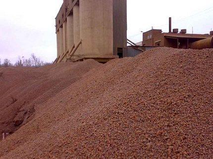 Expanded clay for warming