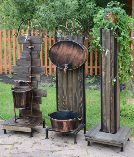 The design of the country wash basin